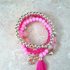 Jewelry - Bohemia Pink beaded bracelets
